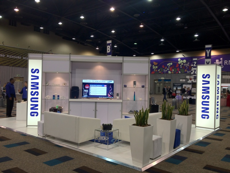 Samsung Exhibition Stand Design : Tinderbox samsung stand at rmb winex expo